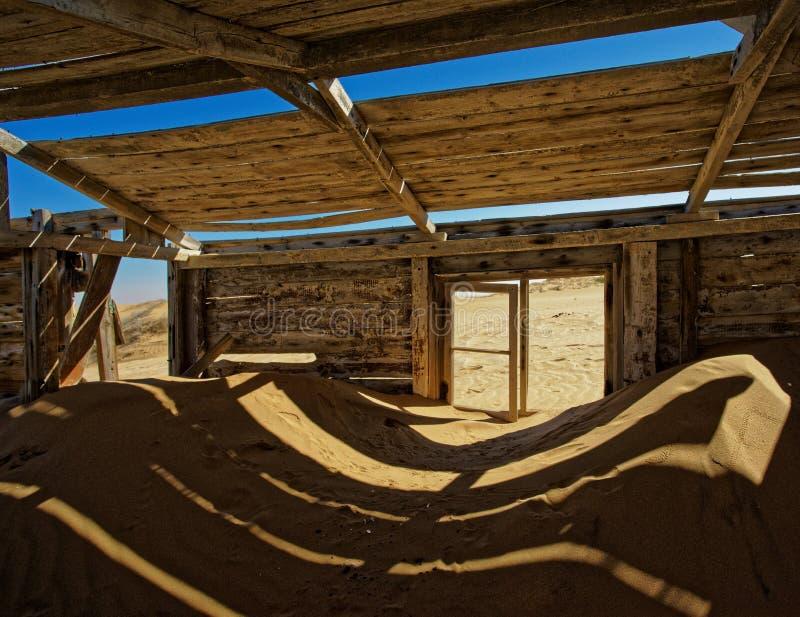 Minas do diamante de Namíbia - abandonadas há muito tempo fotografia de stock