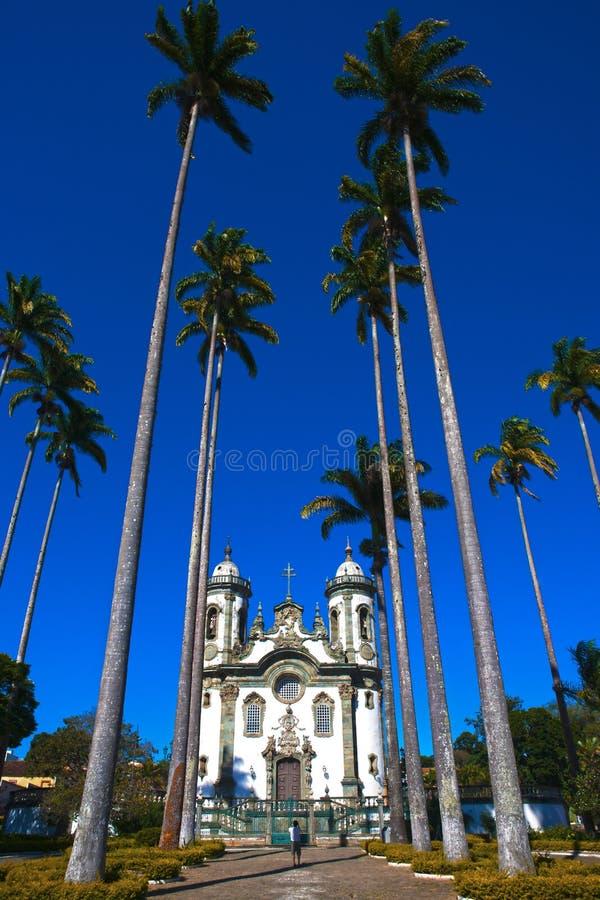 Minas van de joao del rey kerk van Sao gerais Brazilië royalty-vrije stock foto's