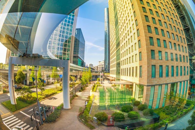 Minato都市都市风景 免版税图库摄影