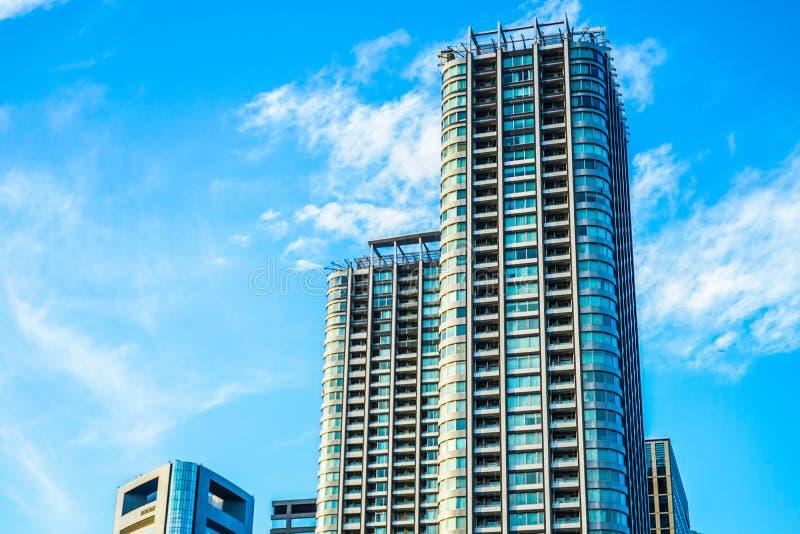 Minato-ku y grupos de edificios de Shiodome foto de archivo libre de regalías
