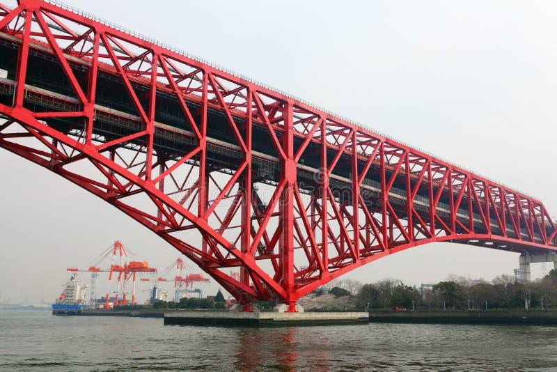 Minatobrug in Osaka stock afbeeldingen