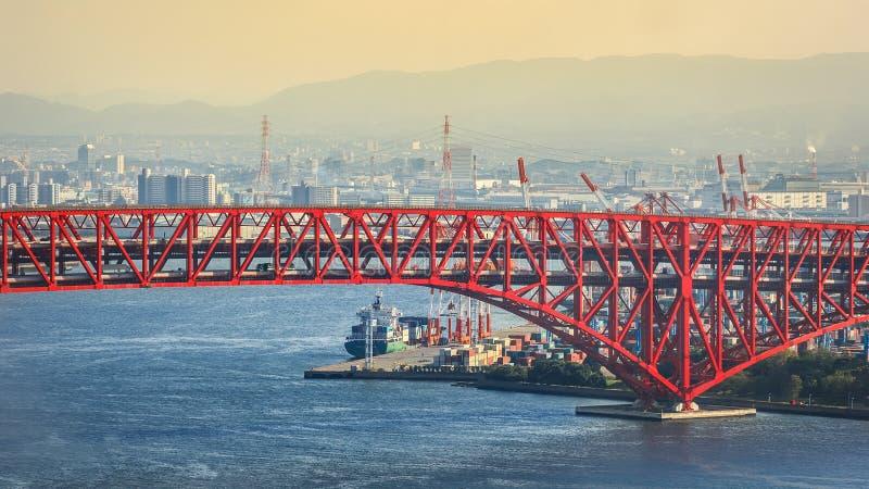 Minatobrug in Osaka, Japan royalty-vrije stock foto