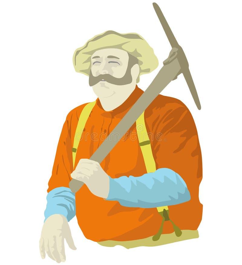 Minatore illustrazione di stock
