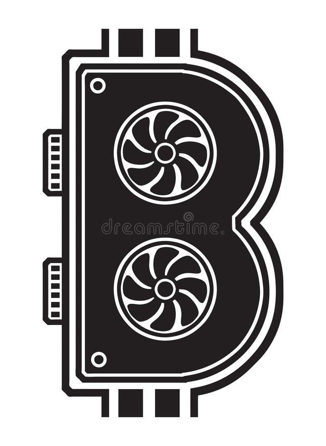 Minatore dei contanti di Bitcoin illustrazione vettoriale