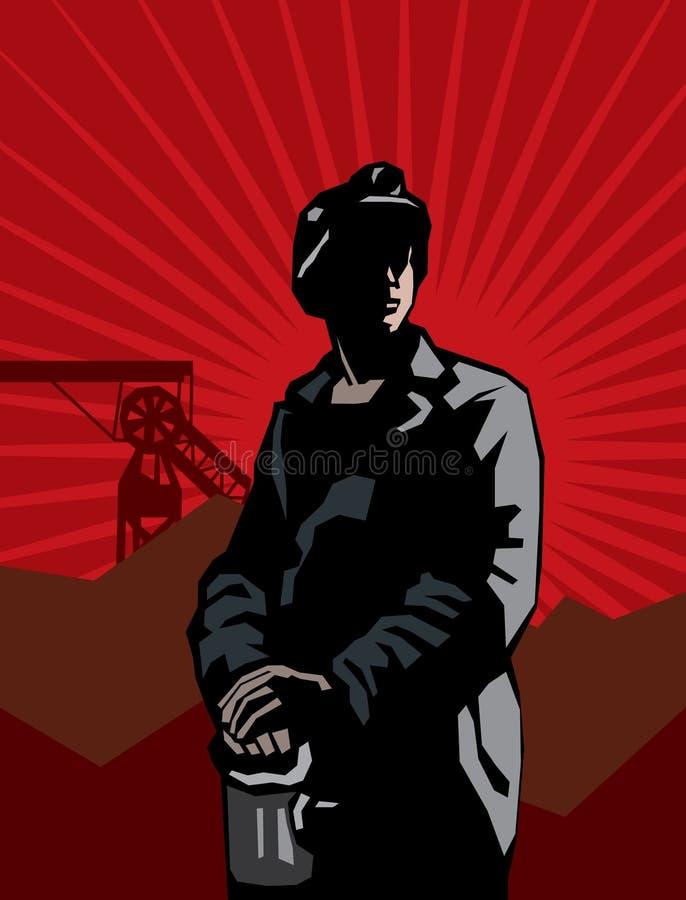Minatore delle miniere di carbone illustrazione vettoriale