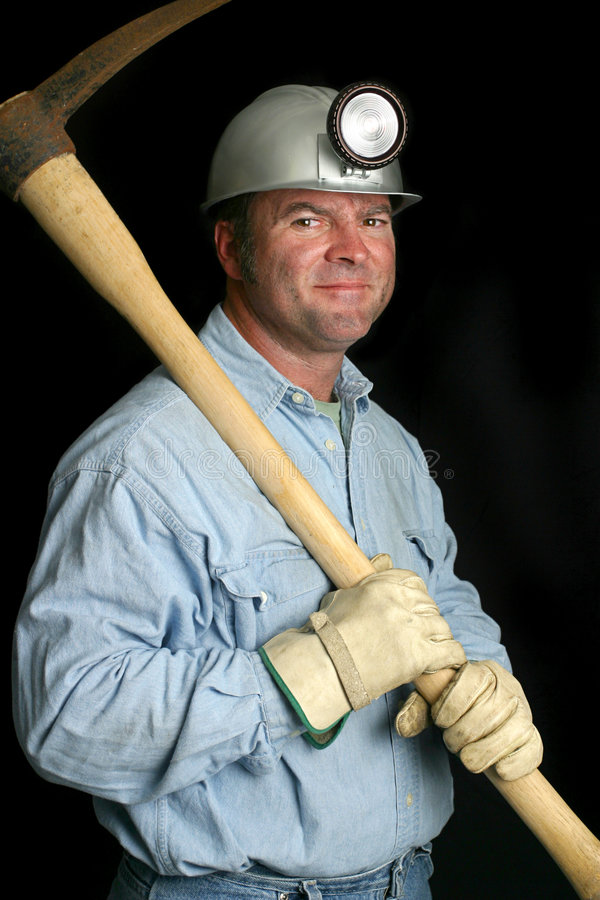 Minatore delle miniere di carbone - amichevole immagini stock