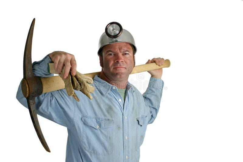 Minatore delle miniere di carbone con il piccone 2 immagine stock libera da diritti