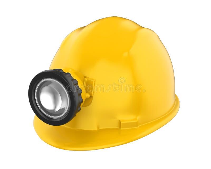 Minatore Helmet con la lampada isolata royalty illustrazione gratis