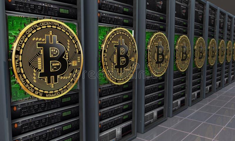 Minatori dei server di Bitcoin royalty illustrazione gratis