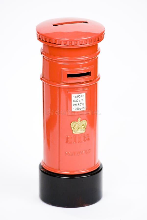 Minature Post Box. Money Bank royalty free stock photos
