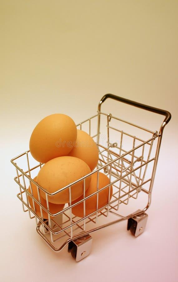 Minature shopping cart royalty free stock photos