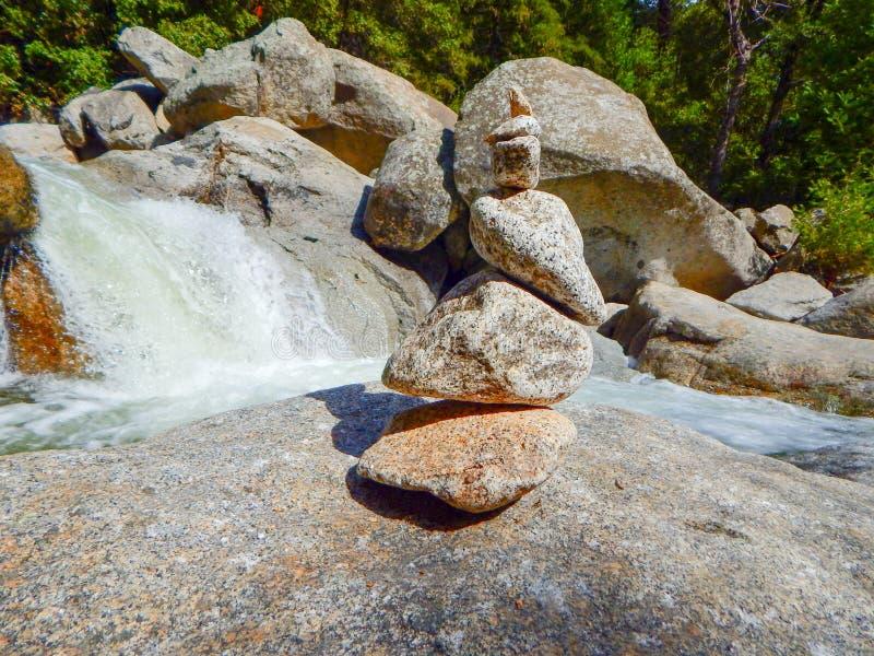 Minature Waterfall and Rocks of Yosemite royalty free stock photography