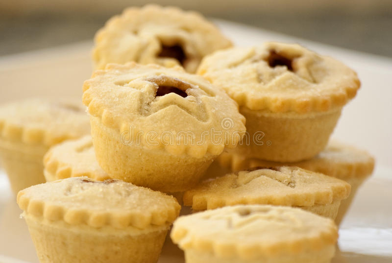 Mince pies. Stack of festive mince pies royalty free stock photos