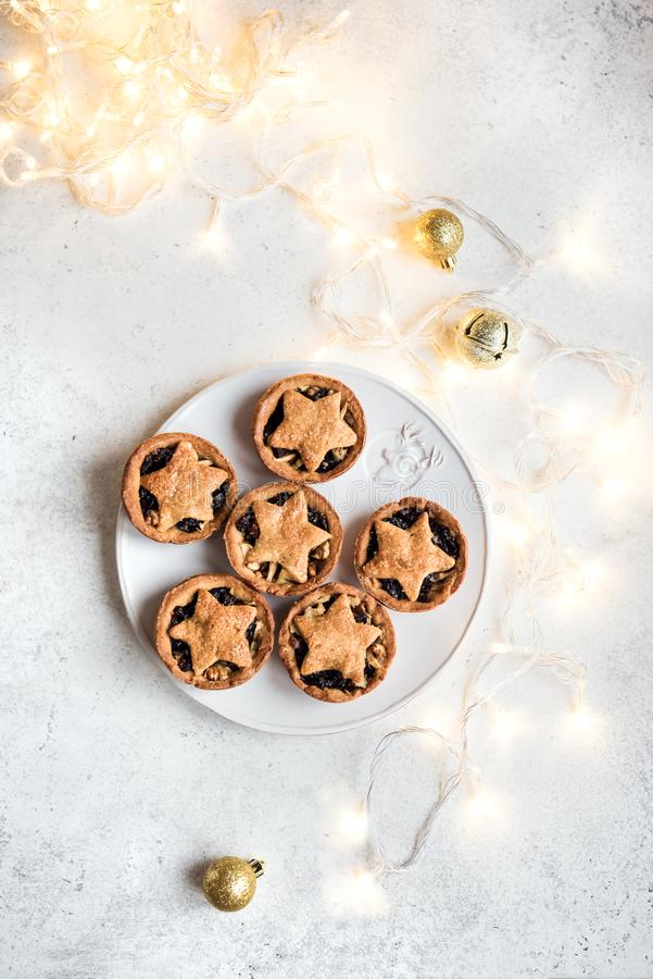 Mince Pies for Christmas stock photos