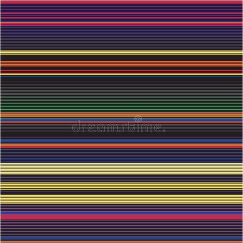 Mince rayé coloré modèle résumé de texture de fond de vecteur de spectre de raies illustration stock