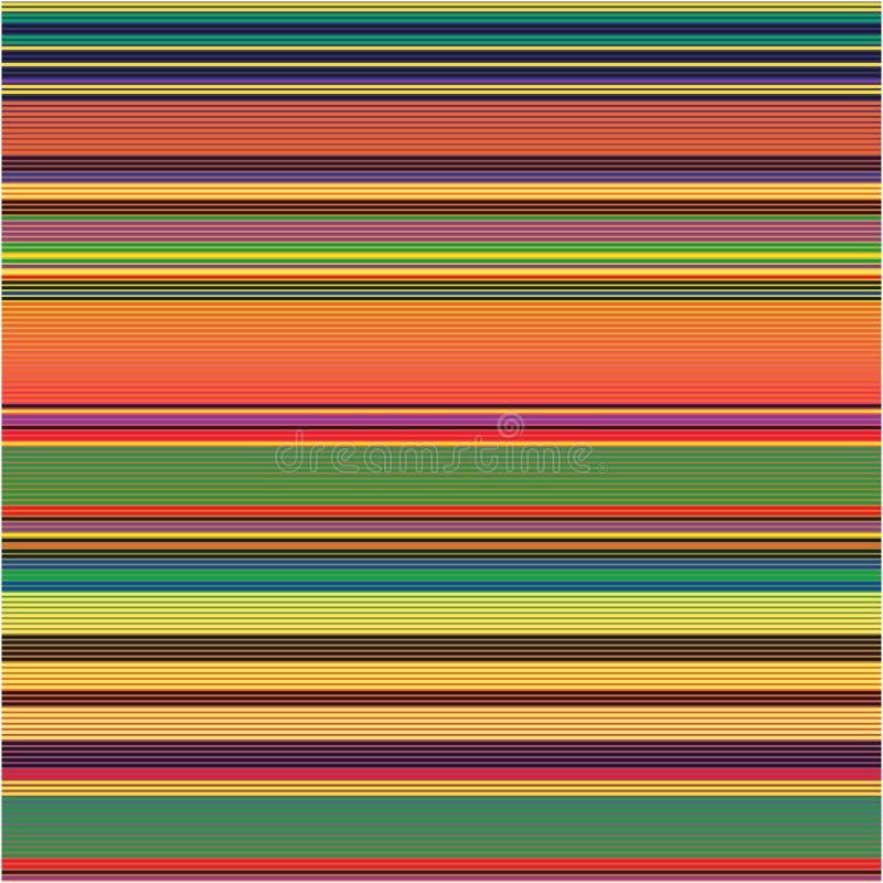 Mince rayé coloré modèle résumé de texture de fond de vecteur de spectre de raies illustration libre de droits