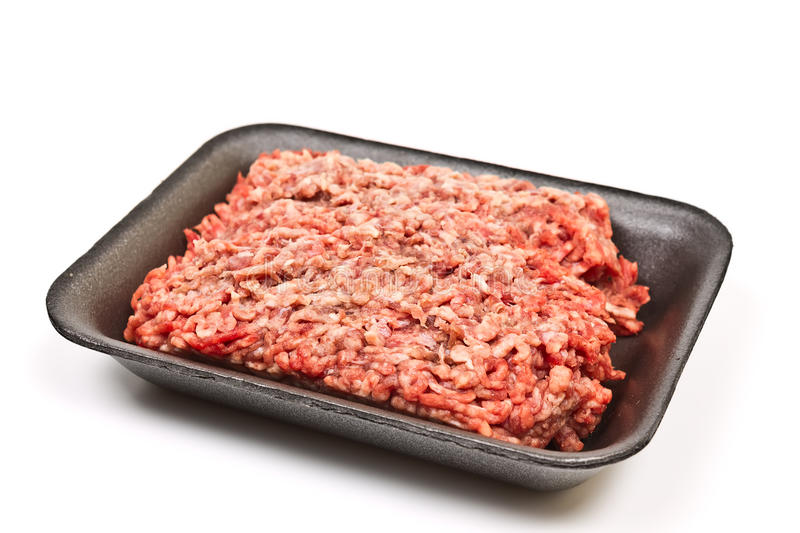 Minced Beef In A Package Stock Photo