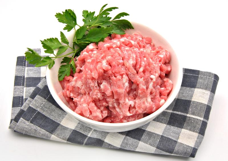 Download Minced meat stock photo. Image of beef, bowl, parsley - 23256838