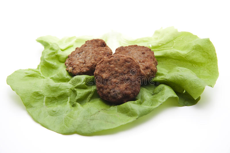 Download Minced Meat Meat With Salad Leaf Stock Photo - Image: 22609672