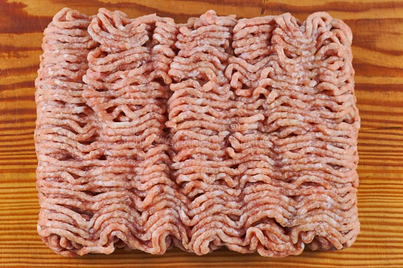 Minced meat, pork, beef stock photo