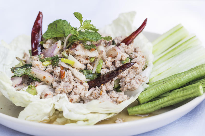 Download Minced pork salad stock image. Image of rice, roasted - 38878547