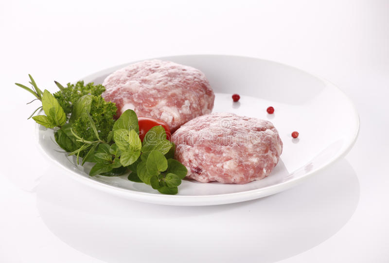 Download Minced raw meat stock image. Image of food, dinner, loaf - 20157527
