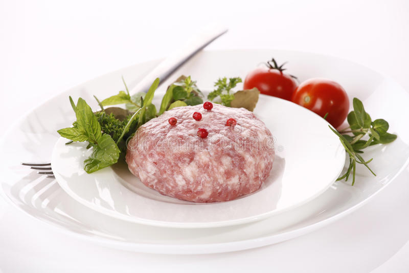 Download Minced raw meat stock photo. Image of herbs, chicken - 20157656