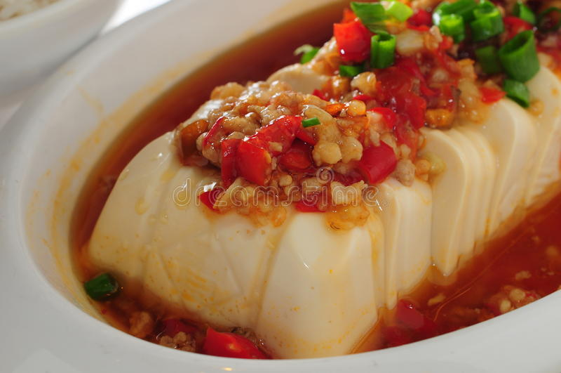 Minced wieprzowiny tofu zdjęcia royalty free