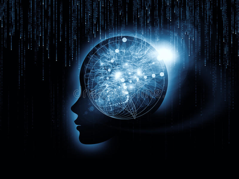 Mind Atoms vector illustration