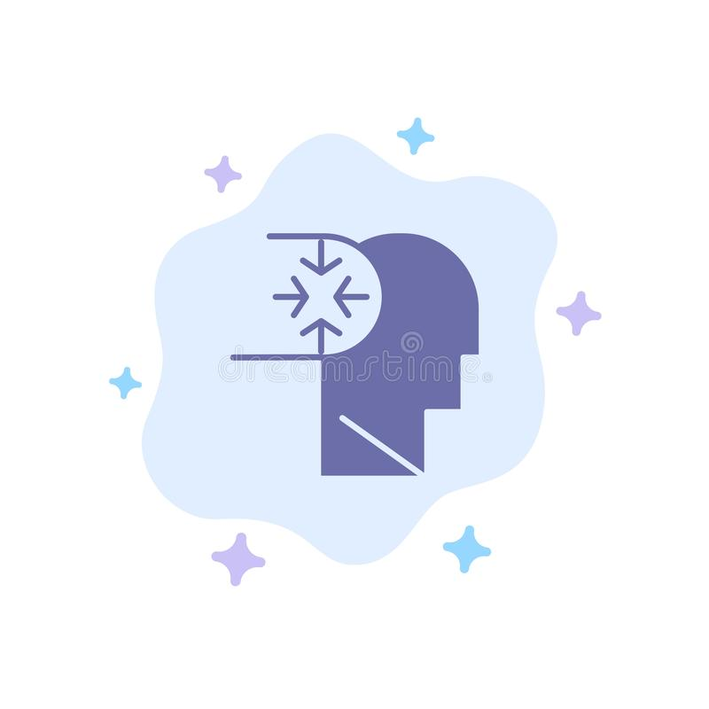 Mind, Autism, Disorder, Head Blue Icon on Abstract Cloud Background vector illustration