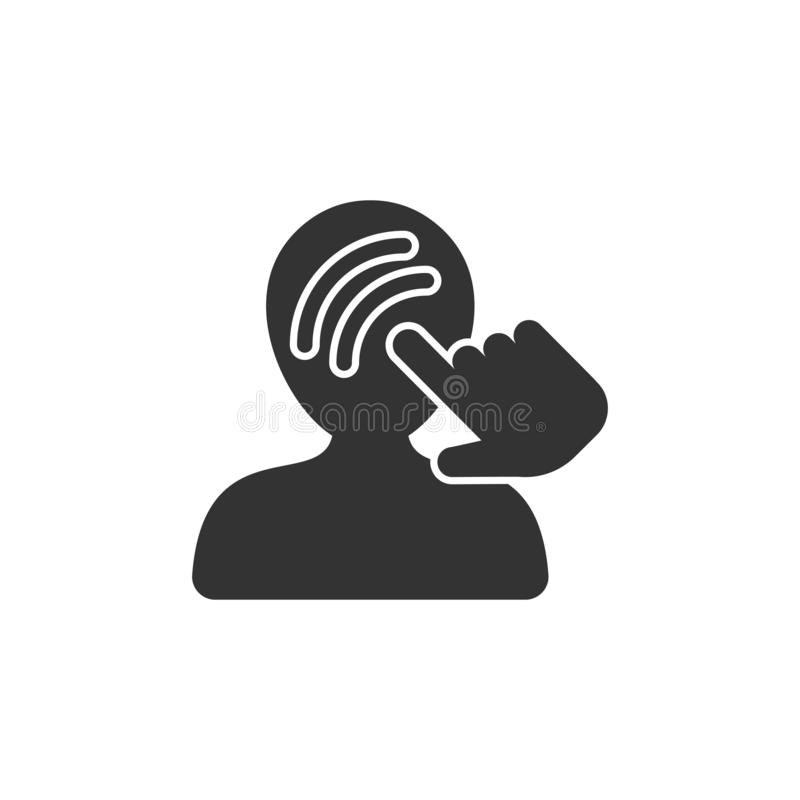 Mind awareness icon in flat style. Idea human vector illustration on isolated background. Customer brain business concept.  royalty free illustration