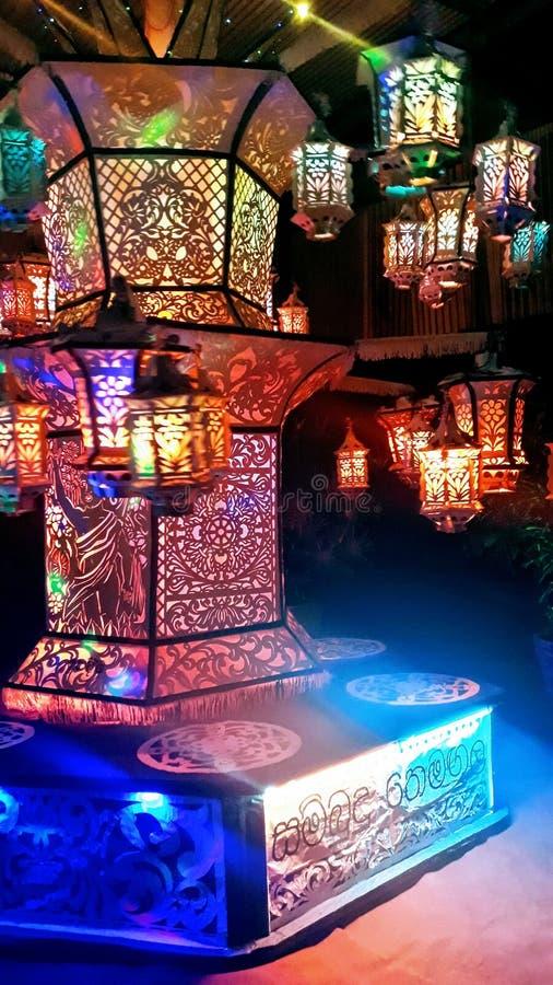 Vesak lantern stock image