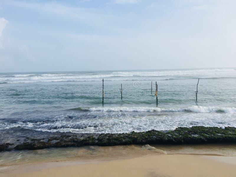 Mind blowing unawatuma beach in sri lanka royalty free stock images