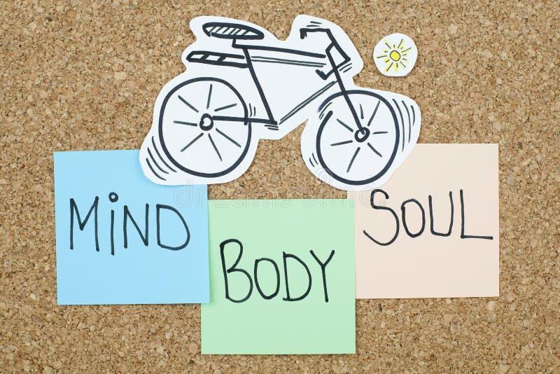 Mind Body Soul. Balance concept stock photo