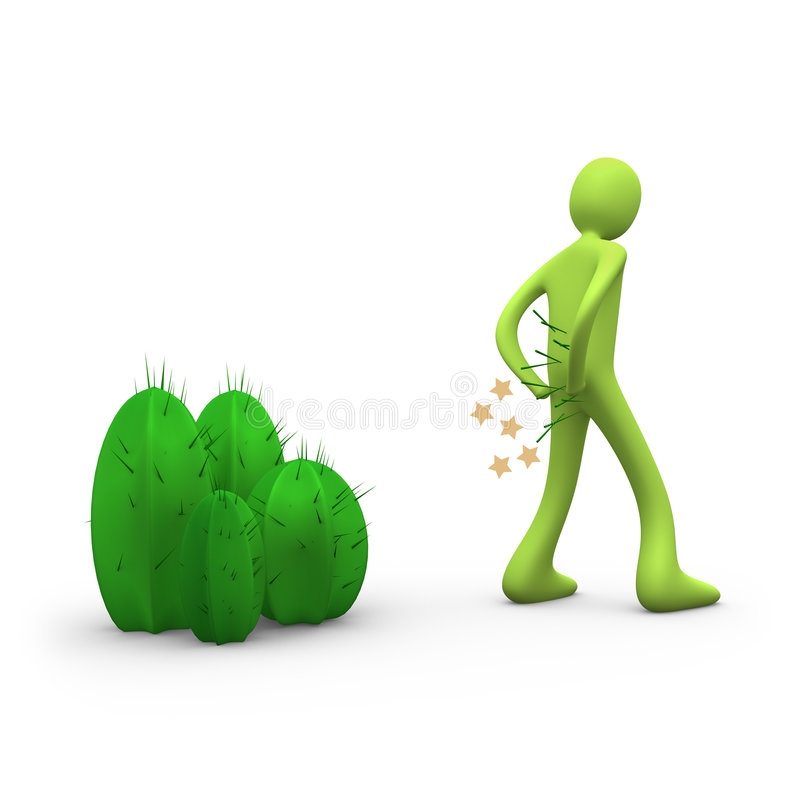 Mind the cactus. Computer generated image. Mind the cactus royalty free illustration