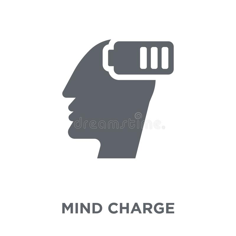Mind Charge icon from Productivity collection. royalty free illustration