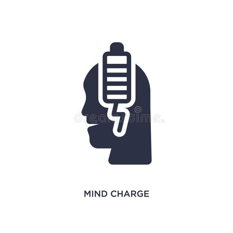 mind charge icon on white background. Simple element illustration from productivity concept royalty free illustration