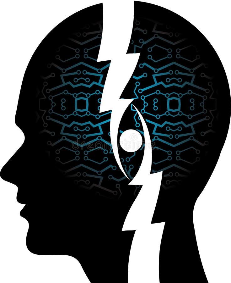 Mind circuit royalty free illustration