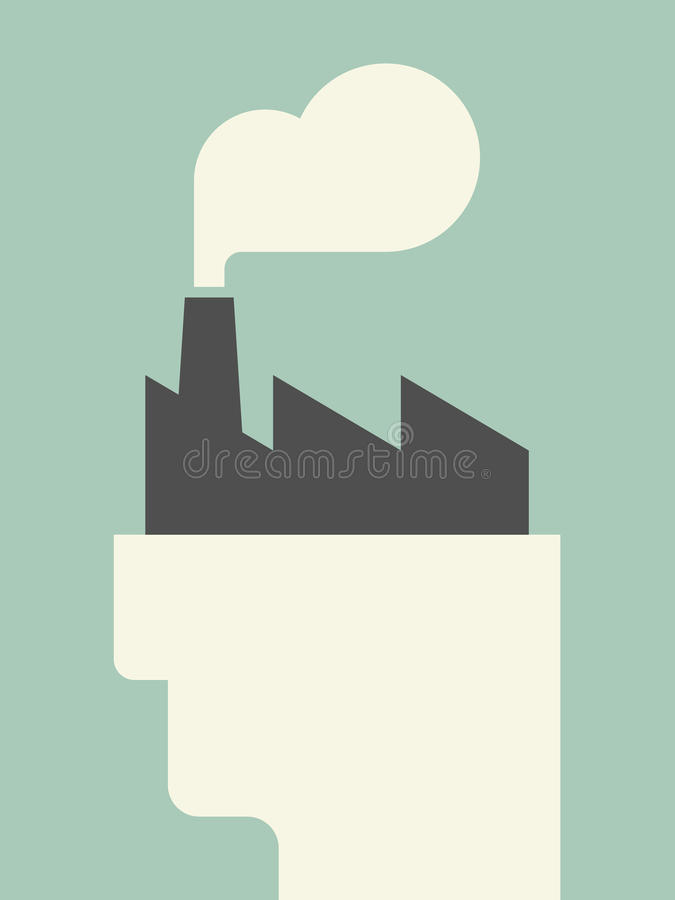 Mind factory vector illustration