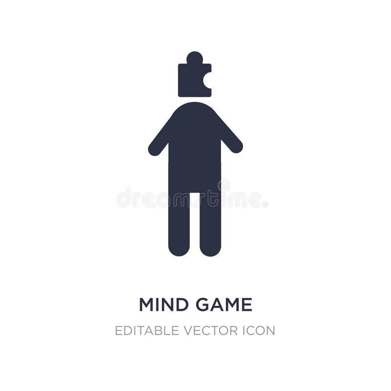 Mind game icon on white background. Simple element illustration from People concept. Mind game icon symbol design stock illustration