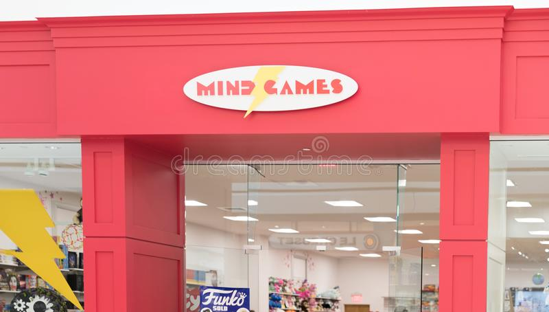 Mind Games is a retail toy and games concept royalty free stock photos