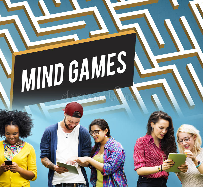 Mind Games Strategy Maze Solution Concept royalty free stock images