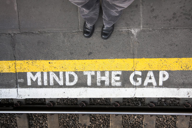 Download Mind the gap stock photo. Image of train, standing, tube - 13651688