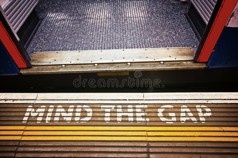 Download Mind the Gap stock image. Image of silver, passenger - 16113457