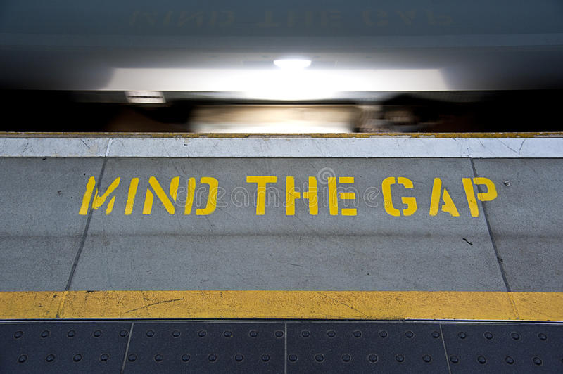 Download Mind the Gap stock photo. Image of light, warning, airport - 18616134