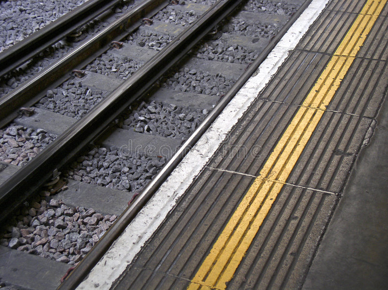 Download Mind the gap... stock photo. Image of warning, track, yellow - 79776