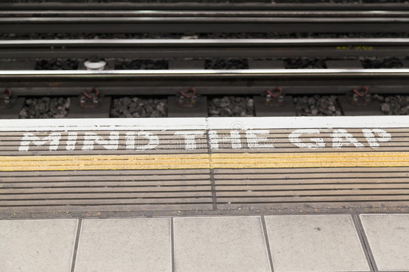 Download Mind the Gap in London stock image. Image of london, sign - 23554737