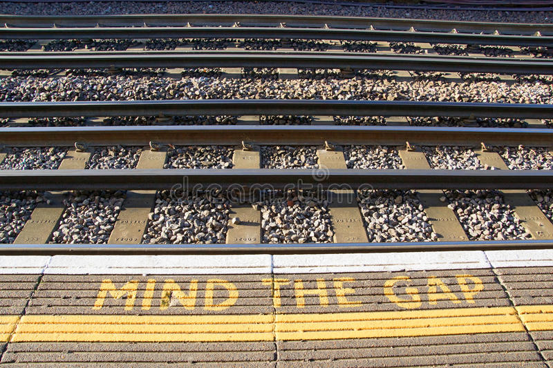 Mind the Gap stock image