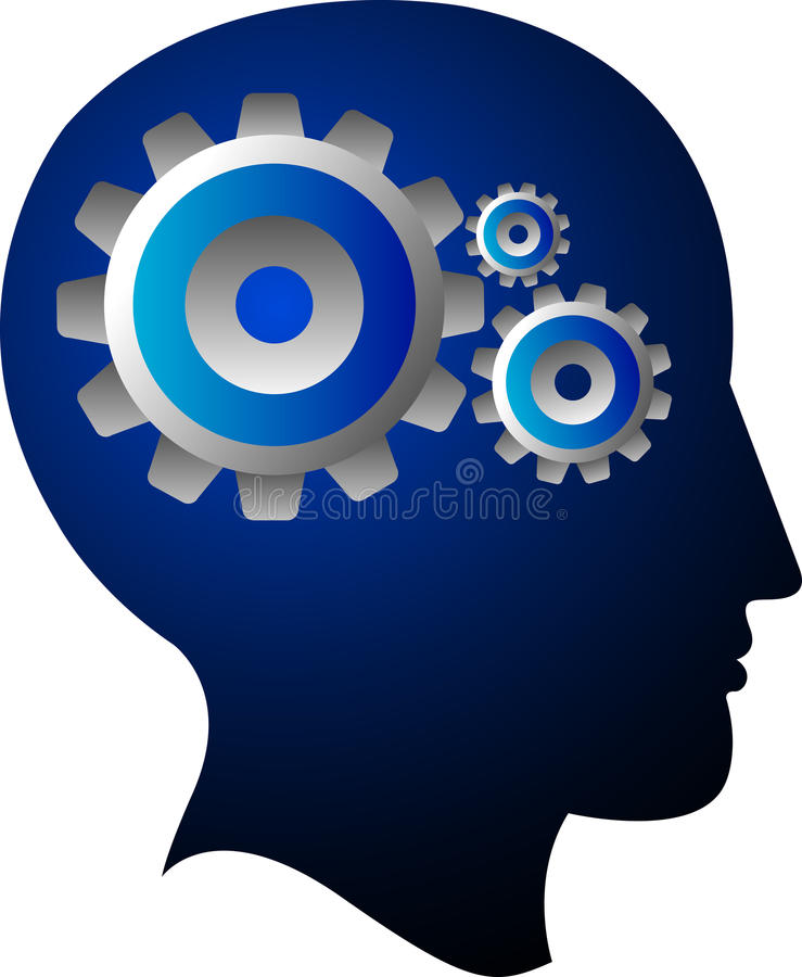 Mind gear stock illustration