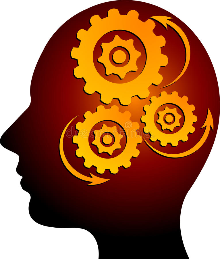 Mind gear. Illustration art of a mind gear with isolated background vector illustration